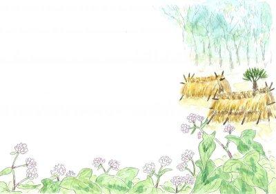 画像1: ポストカード(トトロの森の四季・秋冬)
